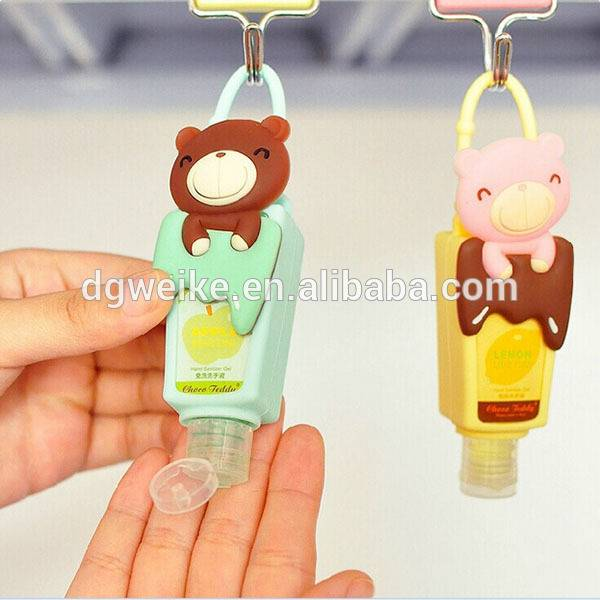 Cute design silicone hand sanitizer holder/perfume bottle holder