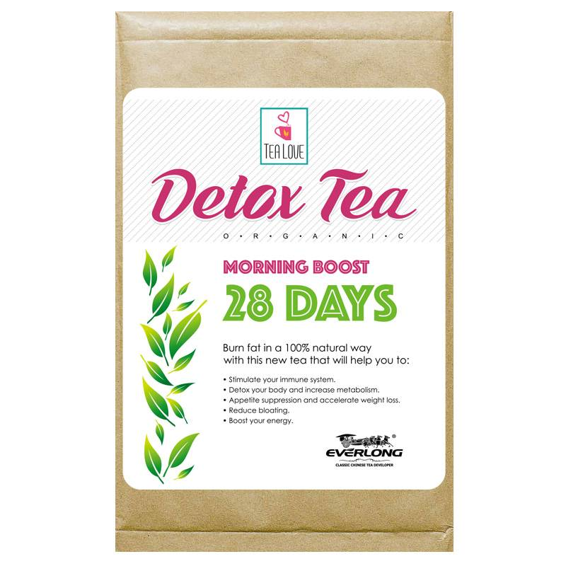100% Organic Herbal Detox Tea Slimming Tea Weight Loss Tea (morning boost tea 28 day)