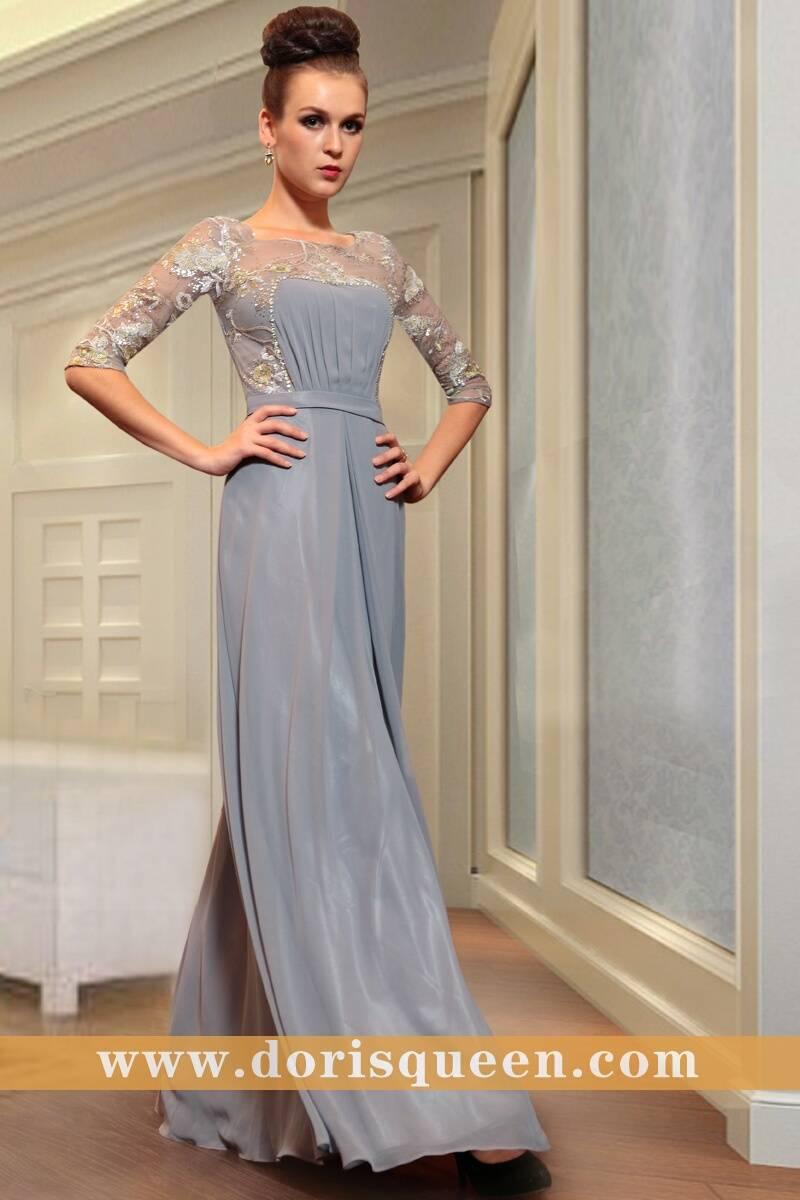 DORISQUEEN A-line middle sleeves mother of the brides plus size dresses30867