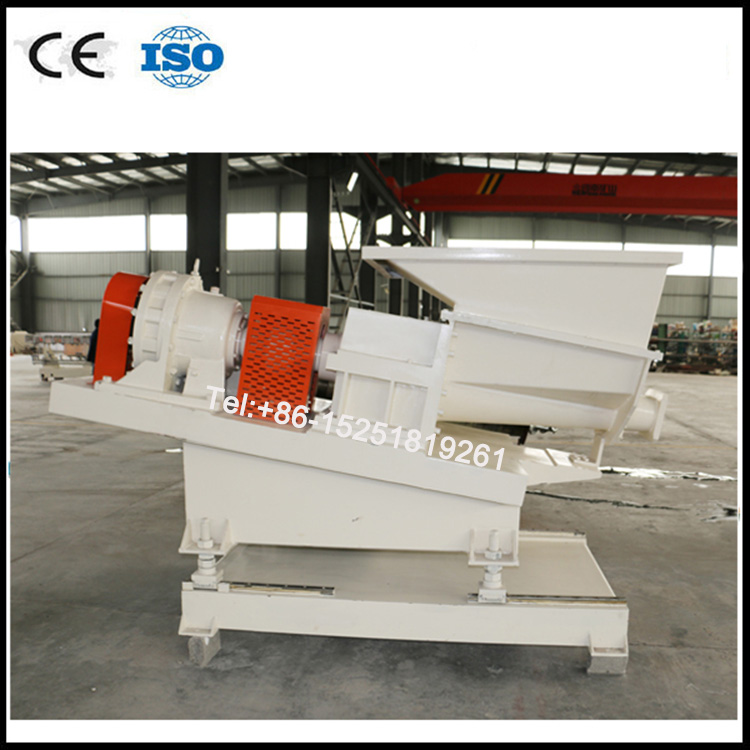 Conical twin screw force feeder for big batch materials