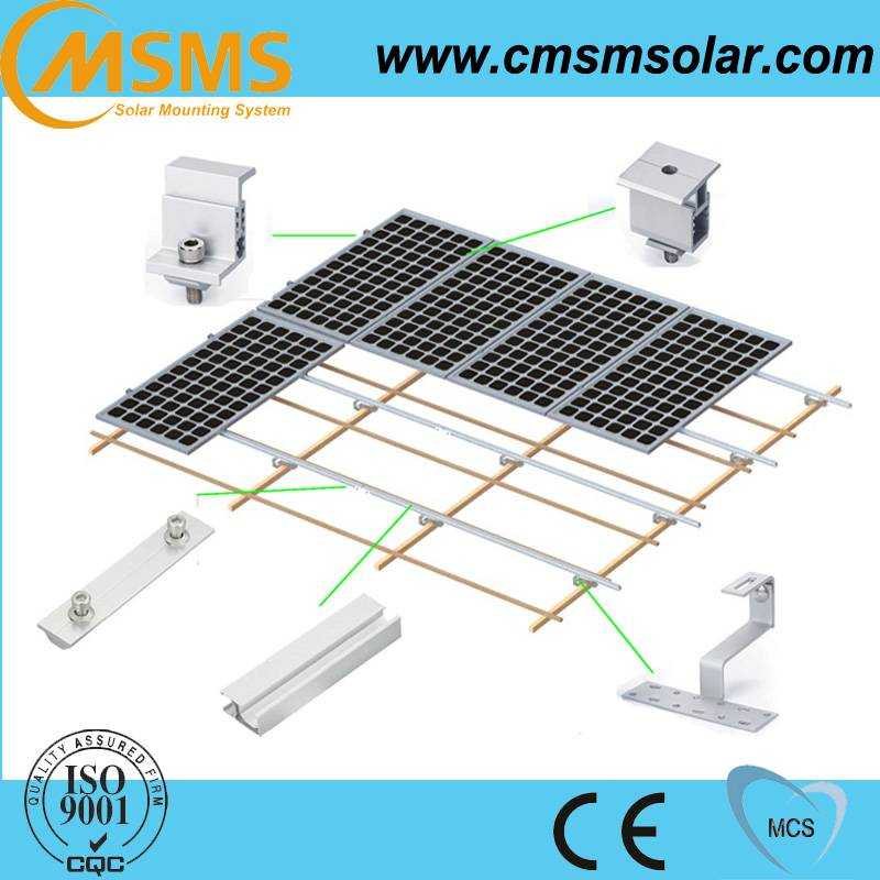 Roof solar mounting system solar pv mounting kit for panel mounting
