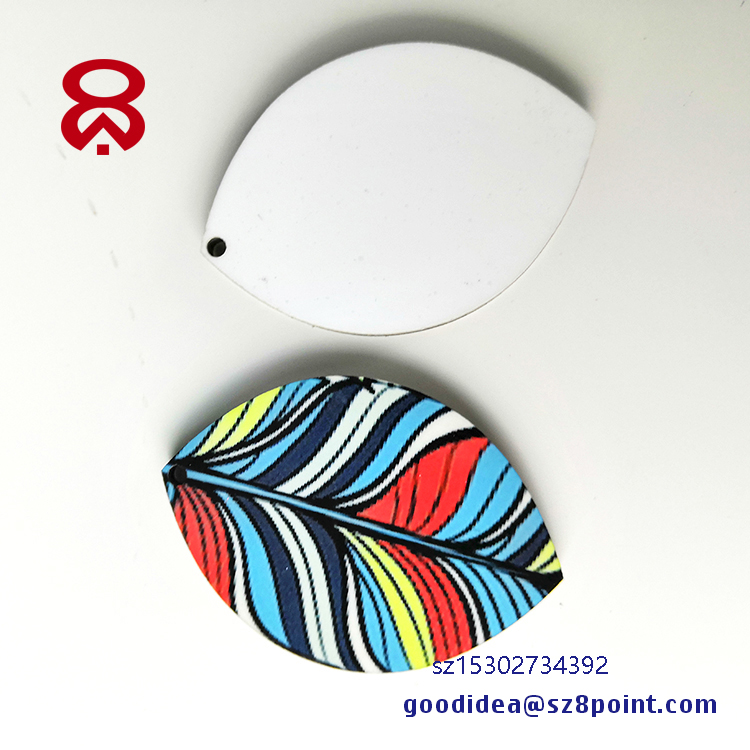 Promotional gift dye sublimation DMF keychain Key ring tags