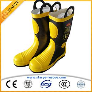 Metal Toes Shoe Insulating Waterproof Fire Boots Fire Fighter's boots
