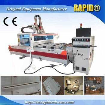 Single Arm Ptp Italy Hsd Drilling Group Wood CNC Router