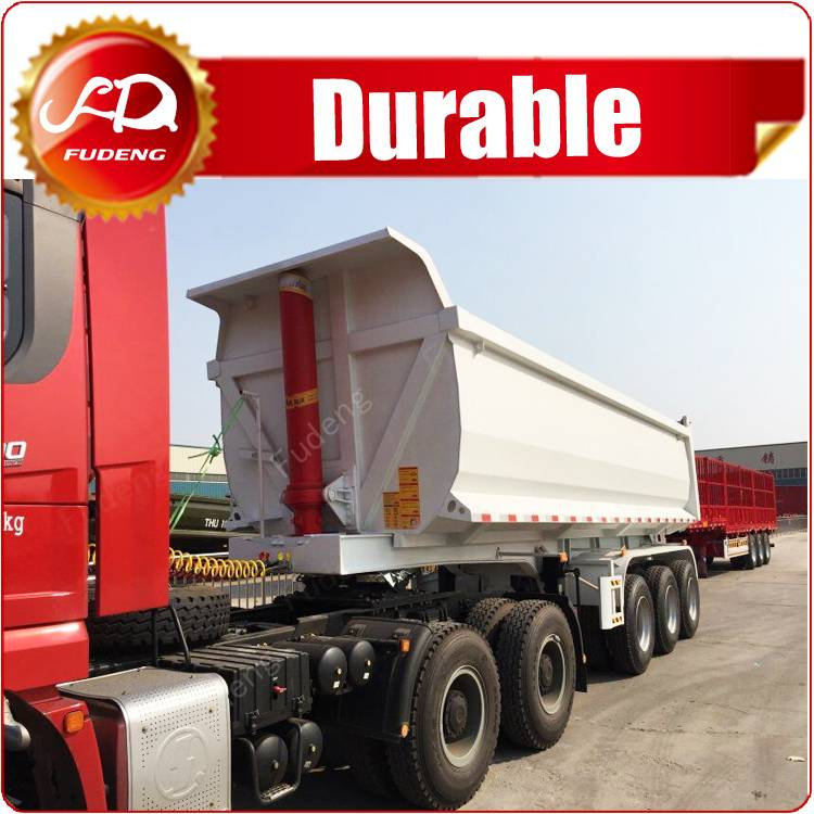 Fudeng Widely Used Side Dump Truck Trailer / Tri Axle Tipper Truck Trailer