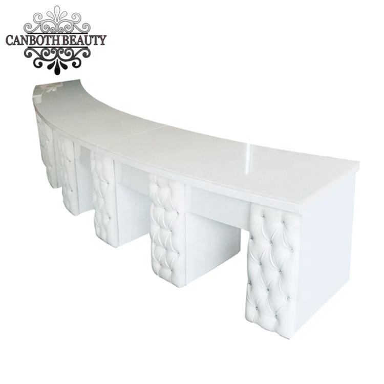 Customized Luxury modern manicure table nail table salon furniture