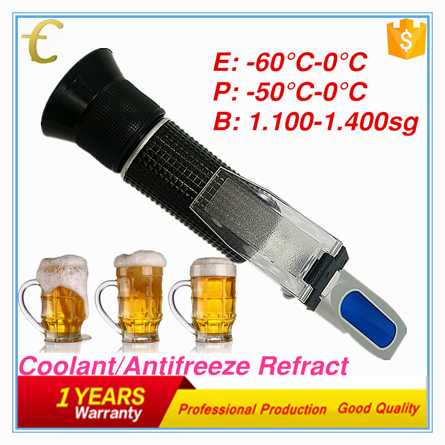Cleaning Fluid Glycol antifreeze Refractometer for testing antifreeze