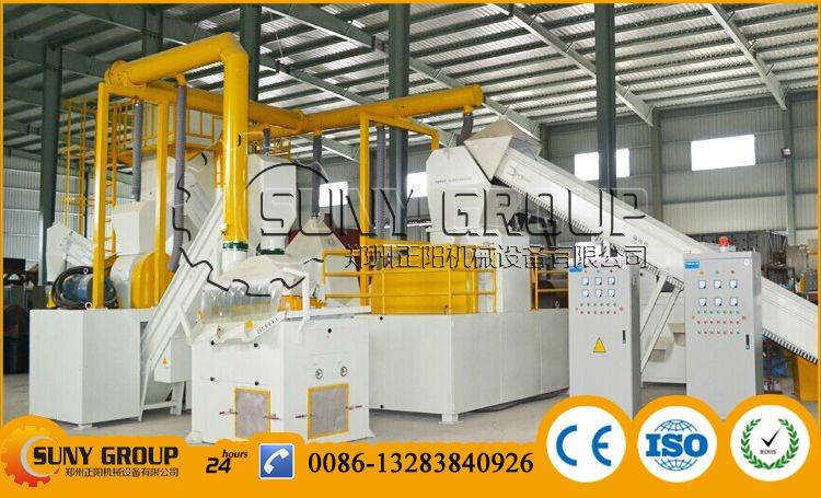 Waste motor rotor recycling production line