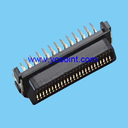 SCSI connector female straight solder 50P