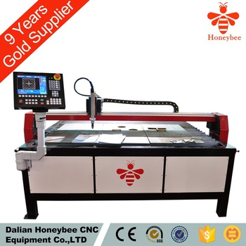 table type cnc cutting machine with under water cutting plasma and flame cutting