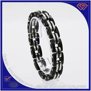 Latest fashionable jewelry 316L stainless steel bracelet manufacturer