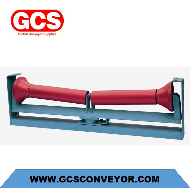 riction-Down aligning mining idler trough grooved conveyor roller/Friction-upper aligning grooved co