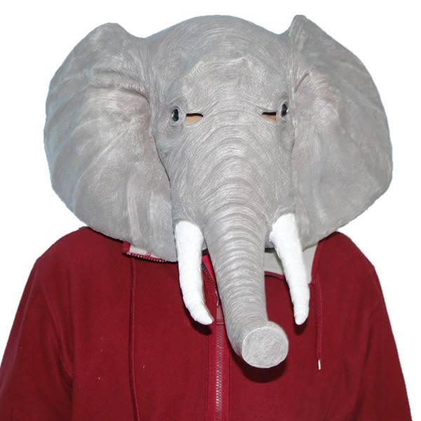 X-MERRY Elephant Mask Latex Animal Mask