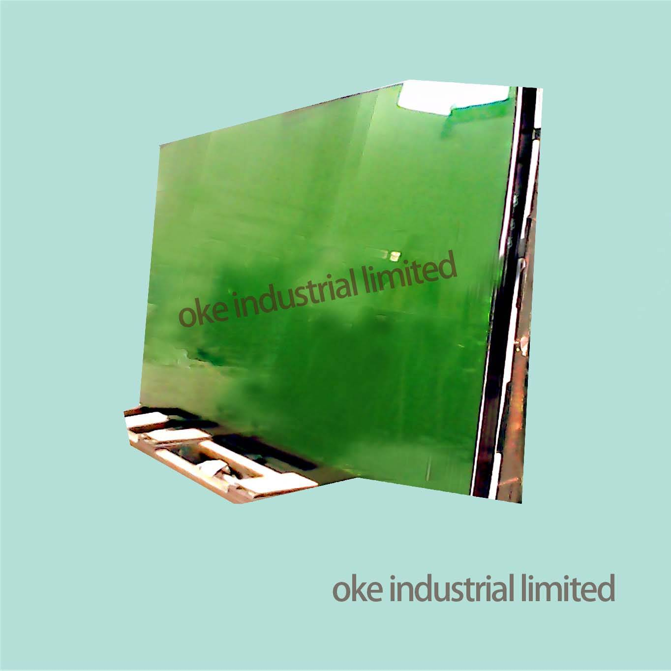 4MM DARK GREEN REFLECTIVE GLASS WITH 1830*2440