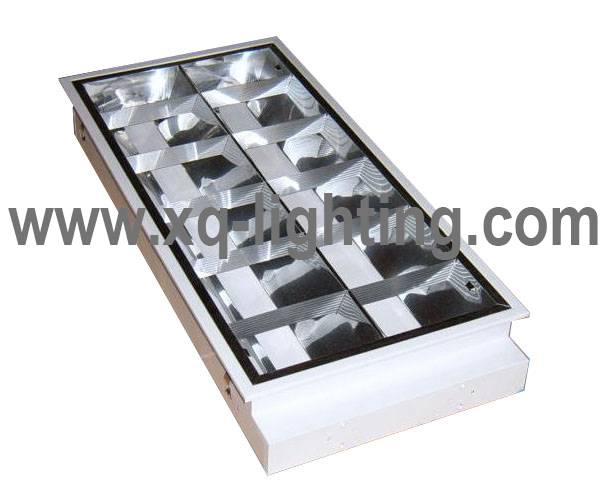 recessed mounted commercial light 2x18w louver light