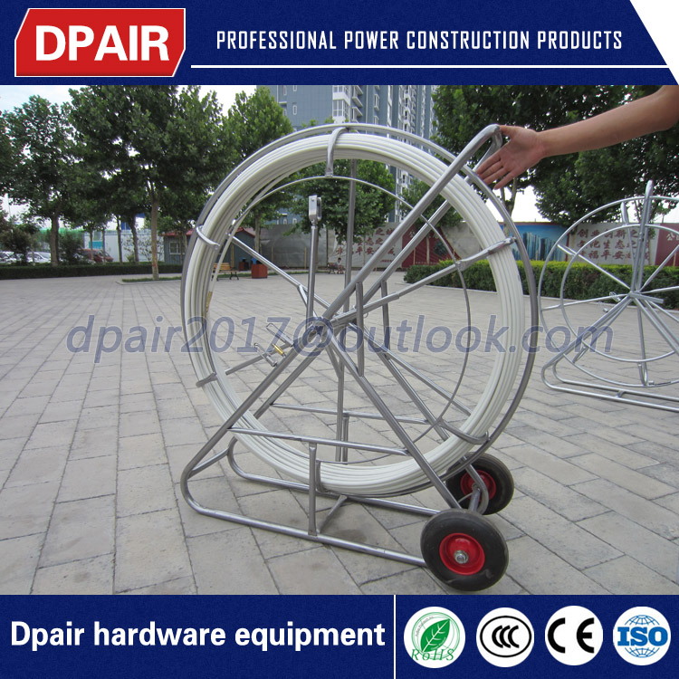 changable diameter fiberglass cable guide duct rodder