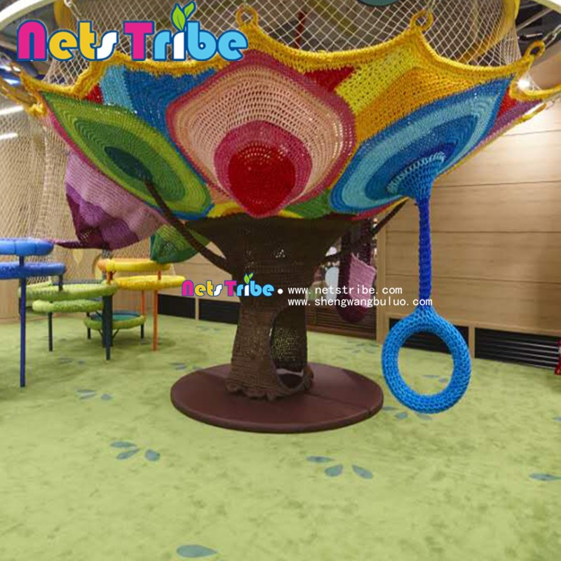Indoor playground climbing nets---3.5m diameter Rainbow tree