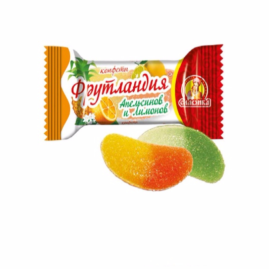 """Frutland Oranges and Lemons"" Russia Candy"