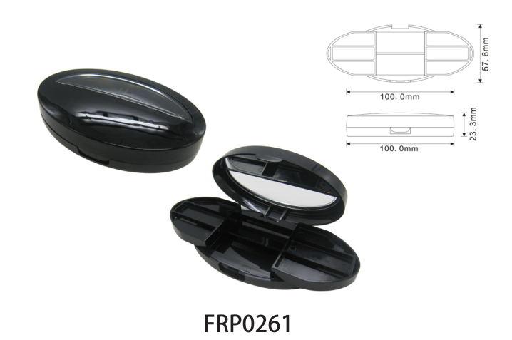 Elegant Design Plastic Empty Loose Powder Case with Shell Lid