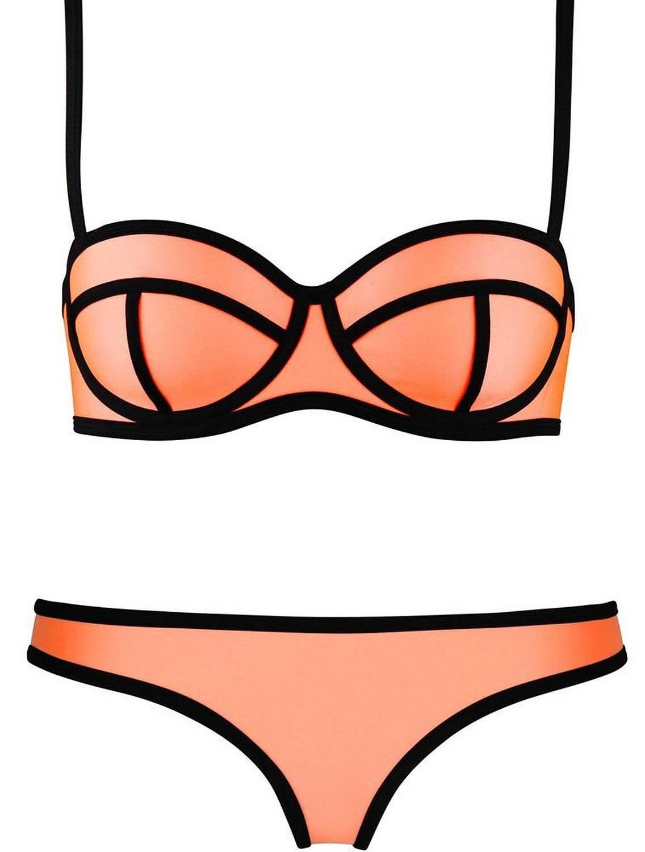 Neoprene fabric ladies bikinis sets
