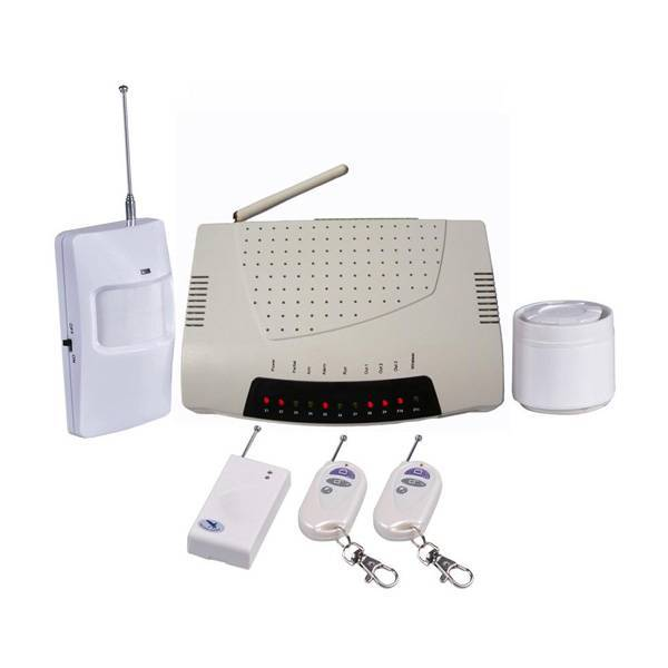 Home intruder alarm system with 3 relayouts