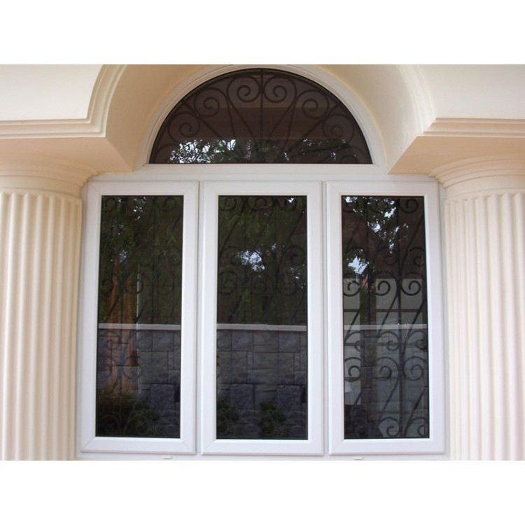 Fashion design PVC white window for villa WP030