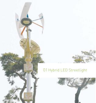 LED outdoor Light - Hybrid LED Streetlight