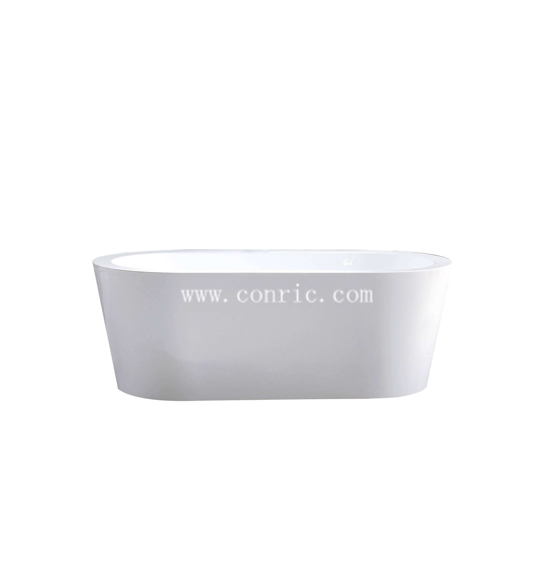 Hangzhou high quality white simple design acrylic bathtub