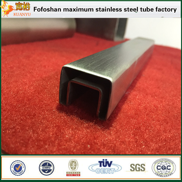 SS 316 material square stainless steel pipe slotted tubes 316