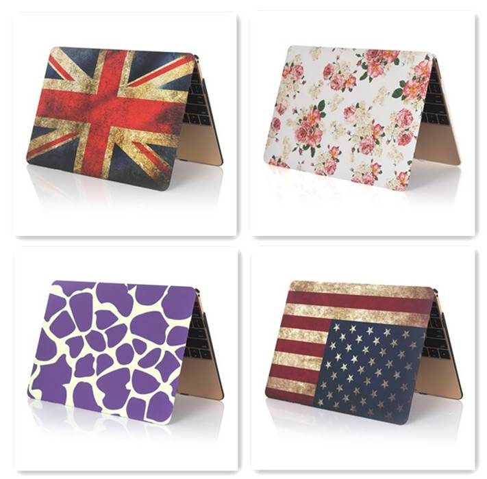 For Macbook Case, US & UK Flag Pattern Case, or other Designs