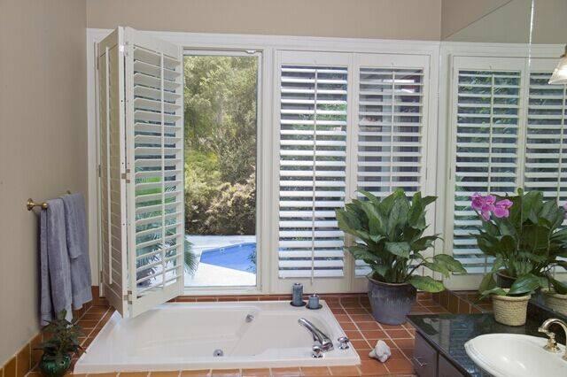 Pure white wooden paulownia plantation shutters