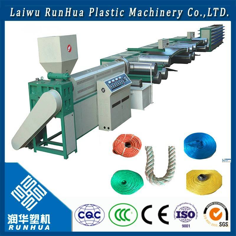 Netted plastic wire drawing machine