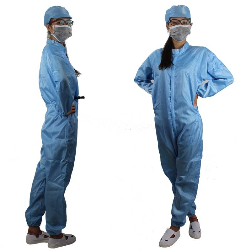 Safe&Comfotable Blue Anti-Static Cleanroom Clothing