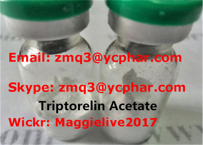 Triptorelin Acetate 57773-63-4 Bodybuilding Polypeptide Hormone Powders Triptorelin 2mg