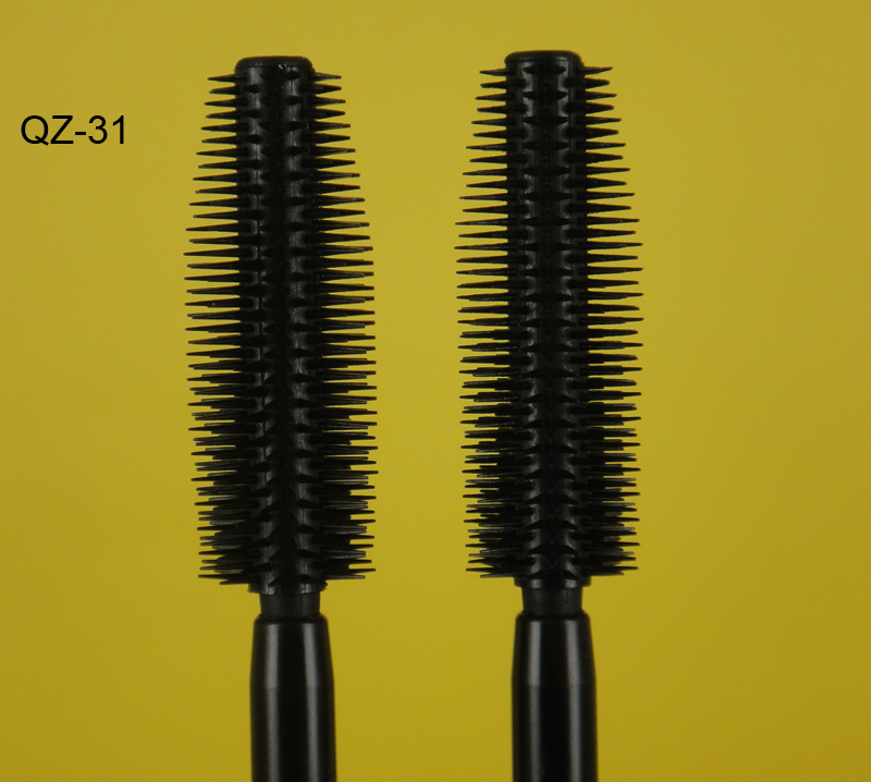 Private Label Naked Silicone Eyebrow Eyelash Mascara Brush Cosmetic Container White Manufacture QZ31