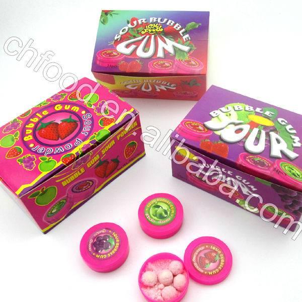 Sour Bubble Gum,Sour Powder Bubble Gum Candy