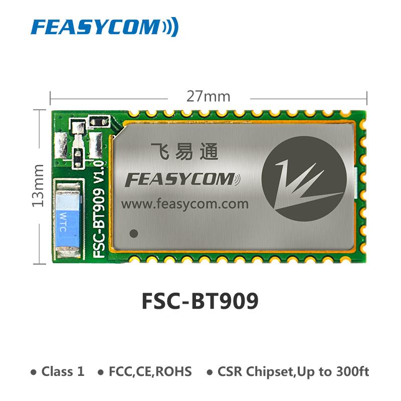 Class 1 FCC long range 100m csr bluetooth 4.0 audio transmitter amplifier dual mode module for beaco