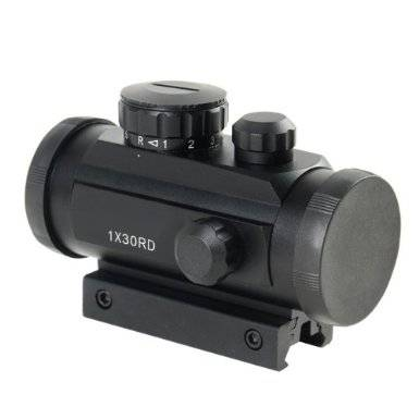PRO Tactical 1X30 R&G W/10mm-20mm Weaver Mount DOT Sight Scope