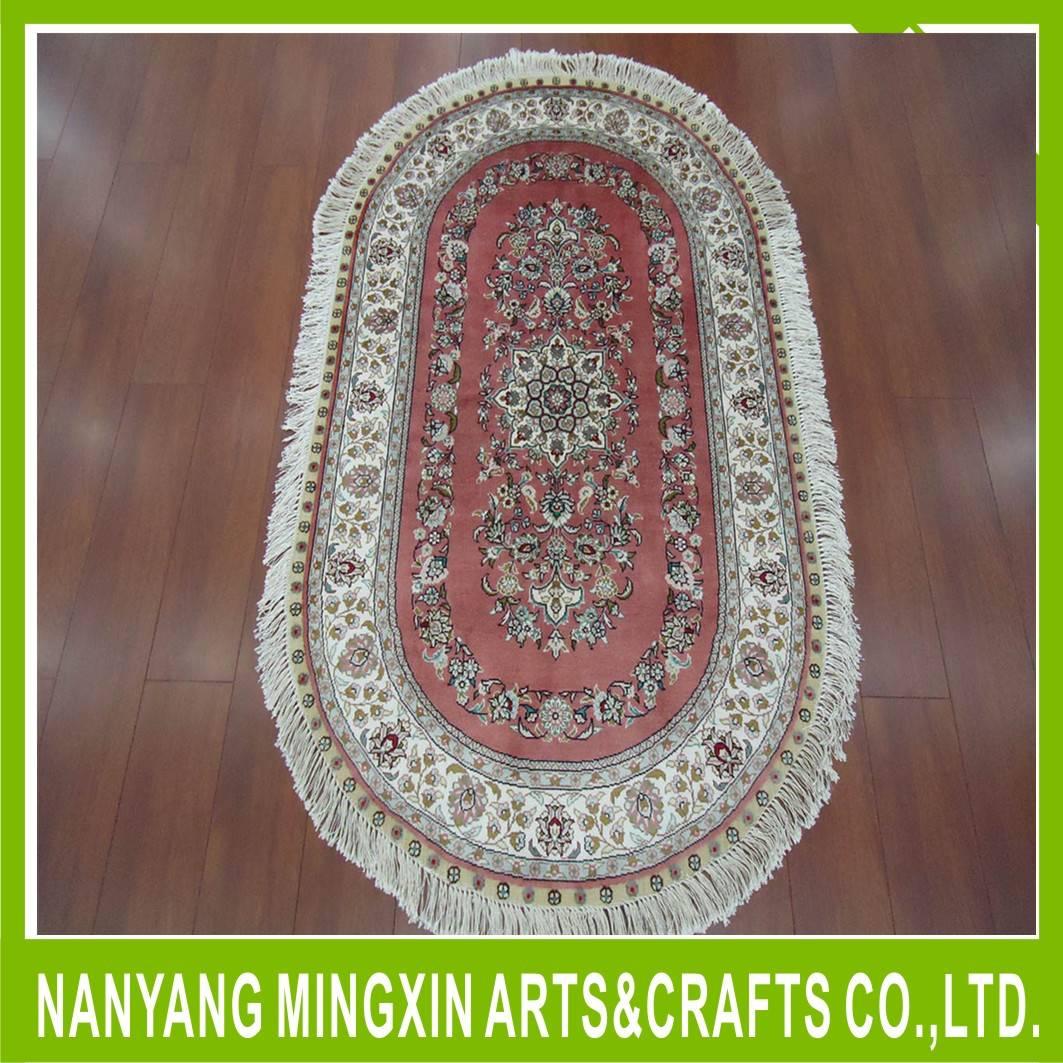 Palace classical persian rugs handmade spun silk carpet
