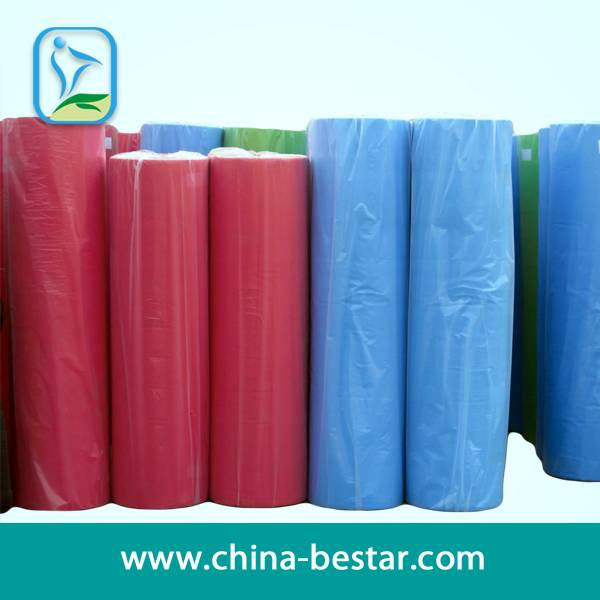 100% Polyester Raw Materials Nonwoven Fabric Manufacture