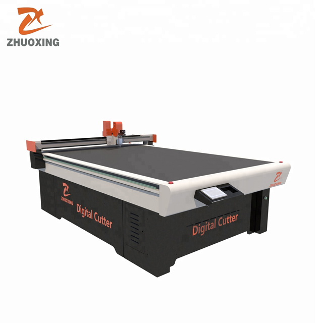 China rotating knife cutting machine carpet mat blanket oscillating knife cutter
