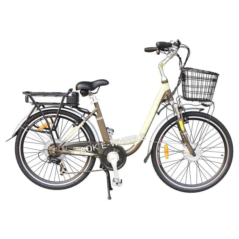 250W Aluminum Frame Electric Bicycle with Disk Brake (TDE-037N)