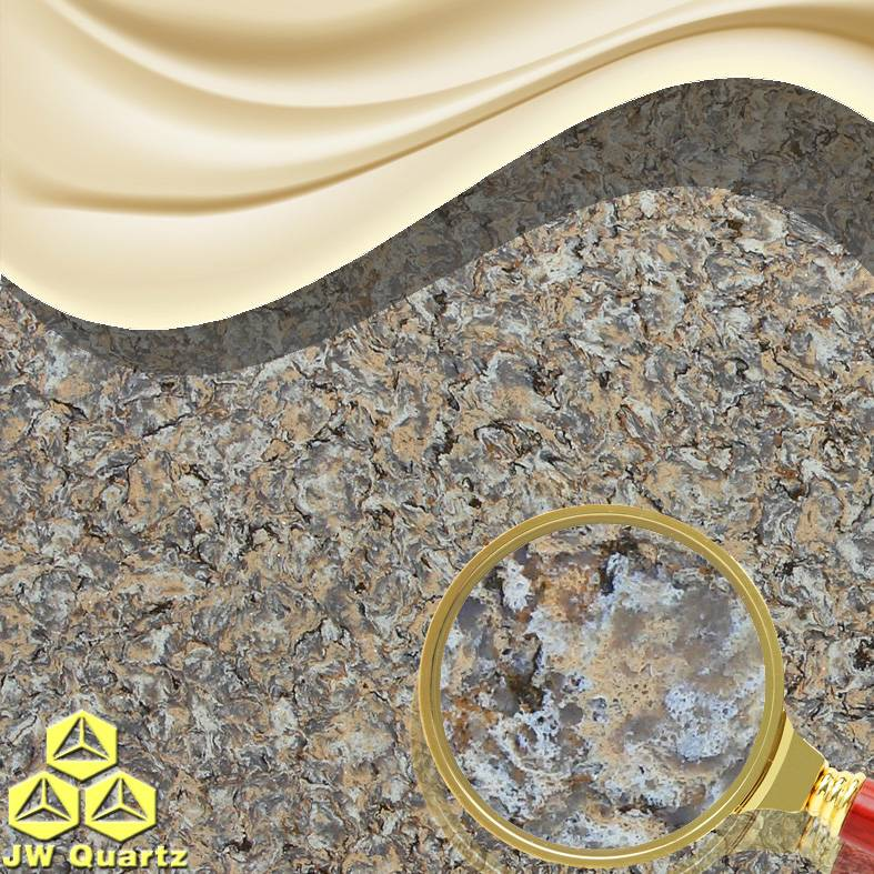 JW-6811 Rare Steak-Natural Marble looking Quartz Stone Slab for Countertop