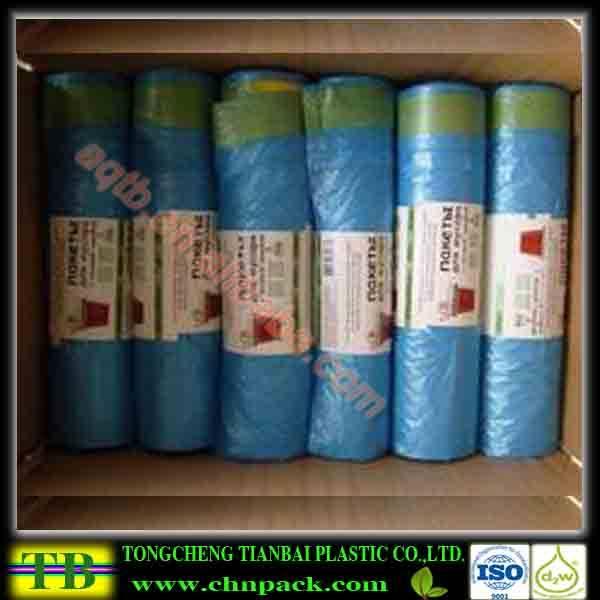 custom plastic drawstring bags