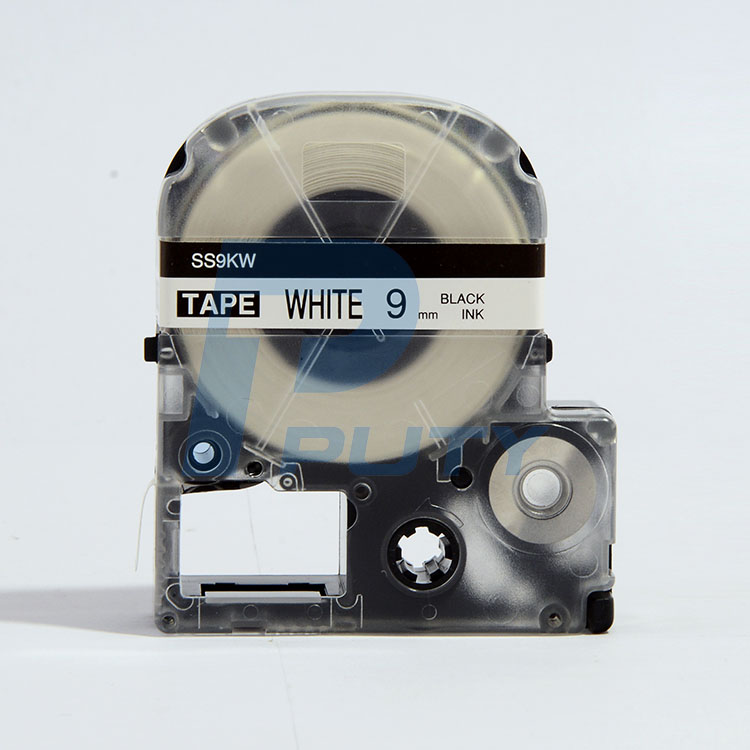 For SS6KW/SS9KW/SS12KW Black on white label tape used for Tepra and Labelwork printers(LW300 LW400 L
