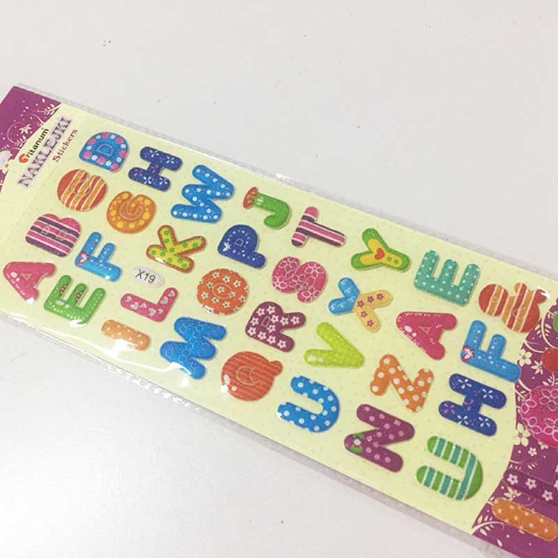 Tianying Glitter Stickers Alphabet Promotional Gifts Puffy Sticker