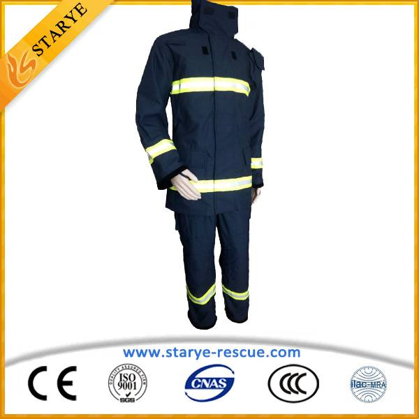 Anti Fire Suit IIIA Aramid Navy Blue Fire Fighting Uniform