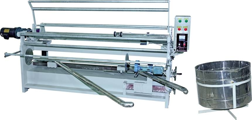 Edges guide winding machine