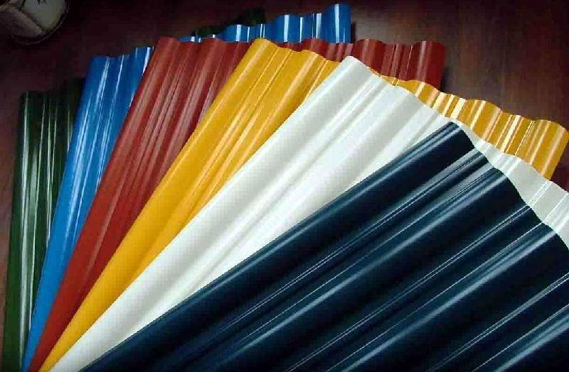 Corrugated sheet iron for roof and wall structure
