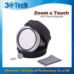 zoom touch led magnifier dome magnifying glass x5-x7